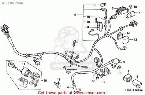 honda st50s dax japan wire harness schematic partsfiche