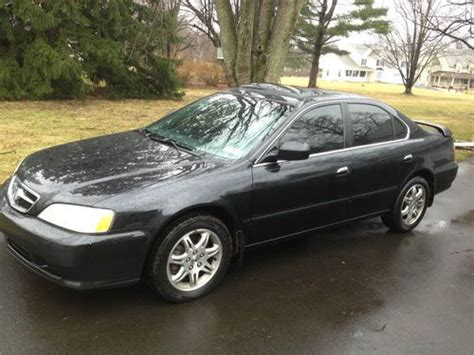 sell used 2001 acura 3 2 tl black black clean runs like new loaded w rear spoiler in