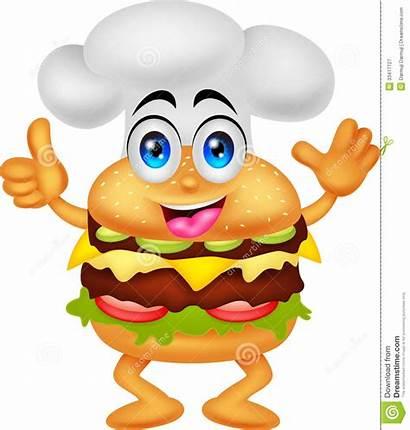 Burger Chef Hamburger Hamburguer Cartoon Funny Character