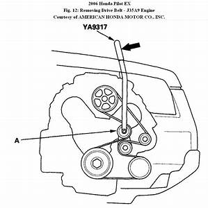Wiring Diagram Database  2006 Honda Pilot Serpentine Belt