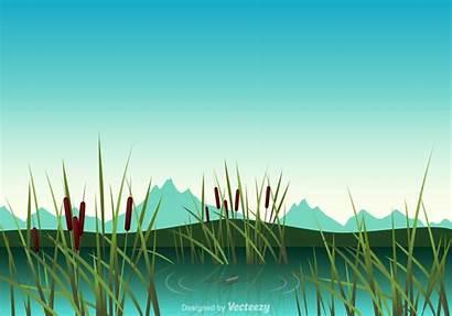 Swamp Clipart Vector Illustration Wetland Wetlands Graphics