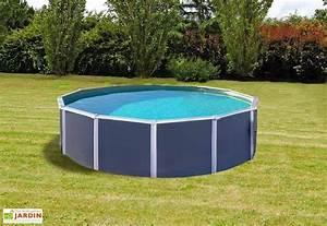 Liner Piscine Hors Sol Ronde : piscine en m tal anthracite hors sol ronde osmose 490cm ~ Dailycaller-alerts.com Idées de Décoration