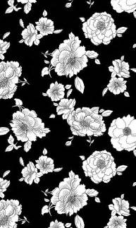 Black and White Floral iPhone Background
