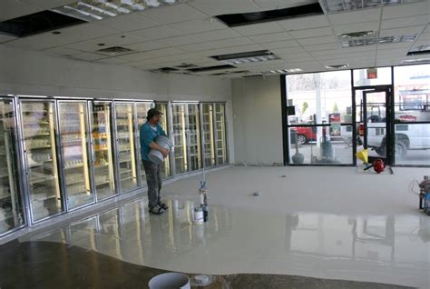 flooring stores seamless convenience store flooring project