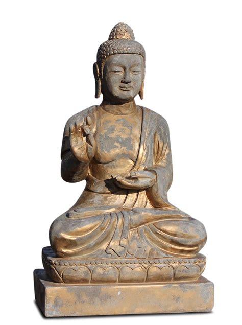 sitzender naturstein buddha statue f 252 r den garten mit karana mudra buddhist arts