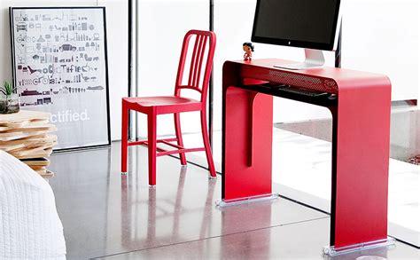 oneless desk bureau console design pour imac