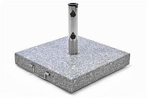 Schirmständer 50 Kg : sonnenschirmst nder 50kg granit poliert grau eckig edelstahl 50 x50cm schirmst nder griff ~ Watch28wear.com Haus und Dekorationen