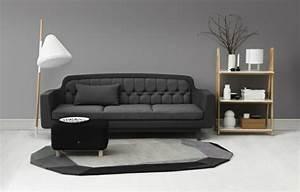 salon moderne design et cocon en couleurs foncees With tapis moderne avec canape a payer en plusieurs fois