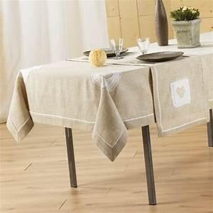 Nappe Table Rectangulaire : nappe rectangulaire l240 cm mont blanc brod lin nappe ~ Teatrodelosmanantiales.com Idées de Décoration