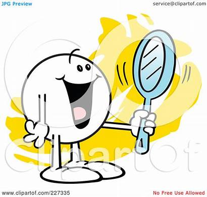 Reflection Mirror Clipart Looking Self Reflective Happy