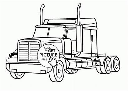 Coloring Semi Truck Realistic Pages Peterbilt Printables
