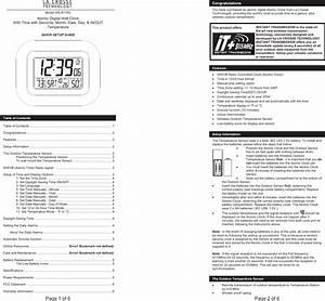 La Crosse Technology Ws 8119u Users Manual