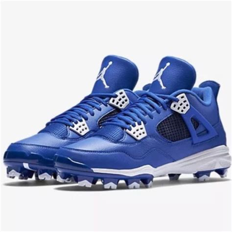 nike air jordan retro iv mcs adult baseball cleat