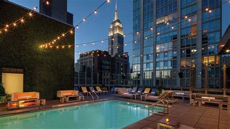 nyc hotels  rooftop  indoor pools curbed ny