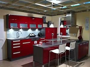 Küche In Rot : k che rot hochglanz hause deko ideen ~ Frokenaadalensverden.com Haus und Dekorationen