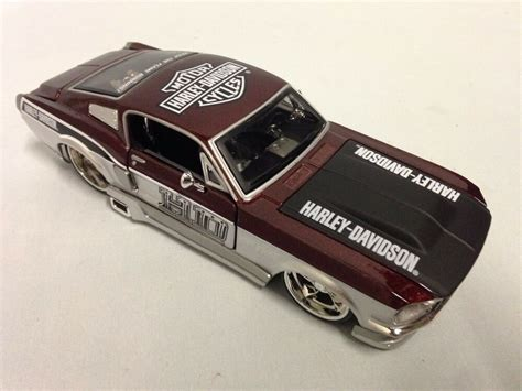 harley davidson 1967 ford mustang gt collectible diecast
