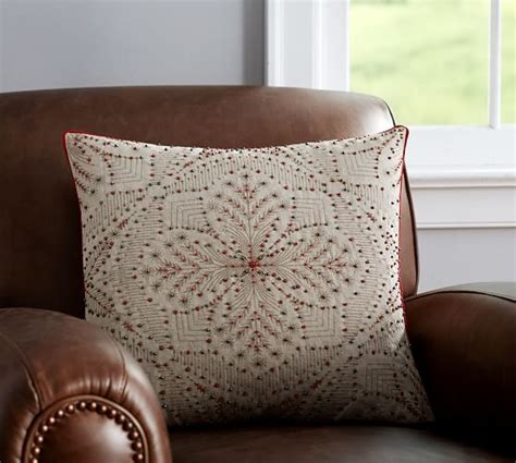 Embellished Beaded Pillow Covers Pottery Barn by Beaded Snowflake Embellished Pillow Cover Pottery Barn