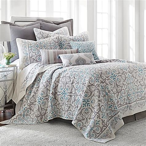 grey quilt king buy levtex home massana reversible king quilt set in grey