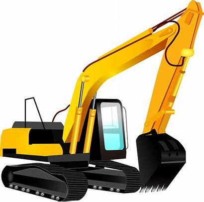 Excavator Clipart Clip Digger Silhouette Backhoe Yellow