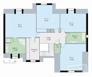 plan dune maison a 2 etages With plan maison 2 chambres a l etage