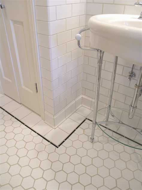 vintage bathroom tile ideas bathroom tour from bungalow tile hexagons bathroom