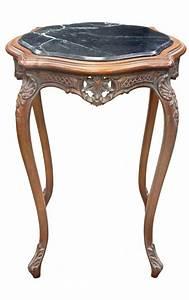 Table Marbre Noir : table carr e de style louis xv en bois sculpt acajou avec marbre noir ~ Teatrodelosmanantiales.com Idées de Décoration