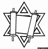 Torah Coloring Pages Jewish Judaism Passover Drawing Symbol Thecolor Library Printables Symbols Celebrations Others Simchat Crafts Tallit Jerusalem Mosaic Shabbat sketch template