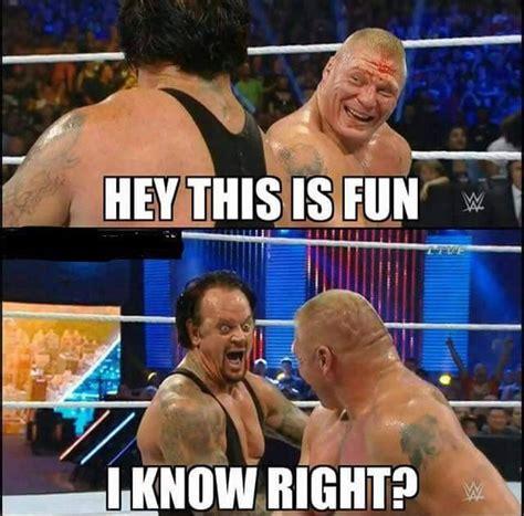 Undertaker Meme - brock lesnar and the undertaker funny moment at wwe summerslam 2015 wrestling pinterest