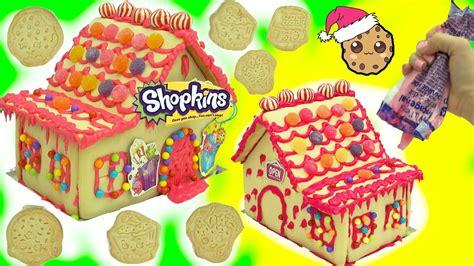 diy shopkins rainbow candy christmas cookie house kit
