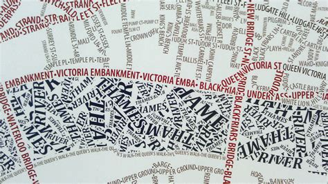 typographic streets mapping london