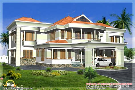 3d House Design : Indian Style 3d House Elevations