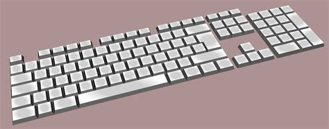 clipart keyboard simple