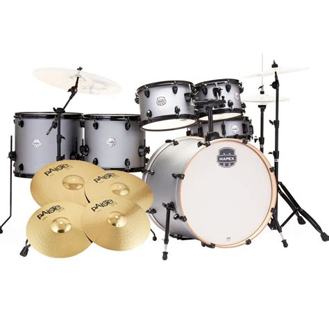 best mid range drum kit mapex 6 drumkit 22 rock fusion inc cymbals iron grey st5295f ig mapex drums