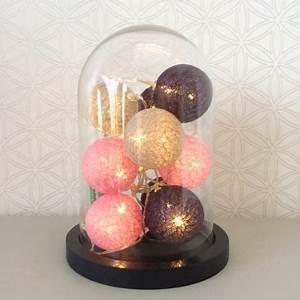 Guirlande Lumineuse Boule Rose : guirlande lumineuse boules roses sous cloche en verre globe en verre la d co sous cloche ~ Melissatoandfro.com Idées de Décoration