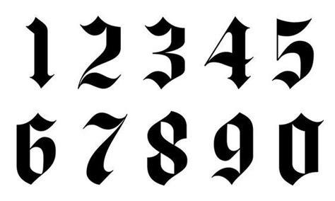 gotische schrift zahlen tattoo style besttattoo number tattoos number tattoo fonts