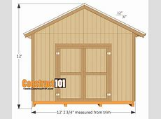 12x16 Shed Plans Gable Design Construct101