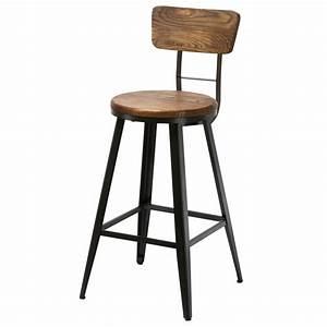 Chaise Bistrot Metal : chaise de bar bistrot m tal et bois koya design ~ Teatrodelosmanantiales.com Idées de Décoration