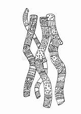 Coloring Illustrazione Twigs Decorative Patterns Dormire Sbadigli Ragazzo Vuole Bambino Gli Che Vettore Modelli Decorativi Coloritura Ramoscelli sketch template