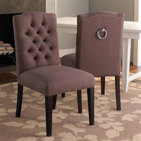 tufted back dining chair w silver ring dining chairs