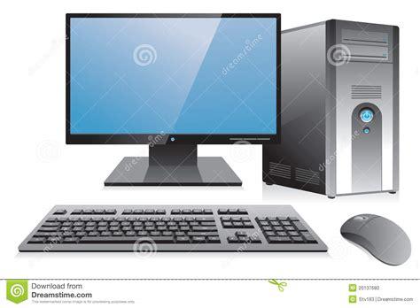 poste de travail bureau poste de travail d 39 ordinateur de bureau photo stock