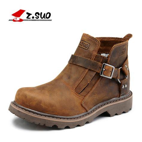 Suo Brand Classic Style Men Work Boots Fashion Man
