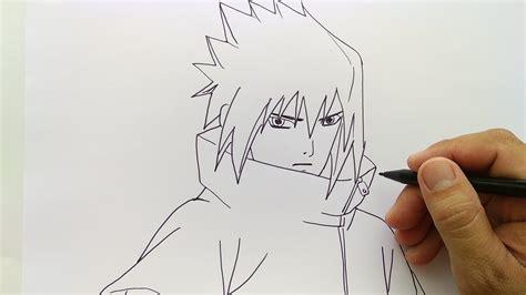 mewarnai gambar sketsa naruto  sasuke keren terbaru