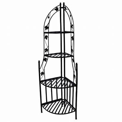 Corner Plant Stand Iron Shelf Wrought Stands