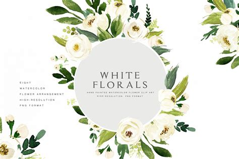 christmas twilight market flyer template free download3 watercolor white flower clip art illustrations