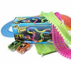 Glow in the Dark 12 ft Twister Trax Set with 2 Light up