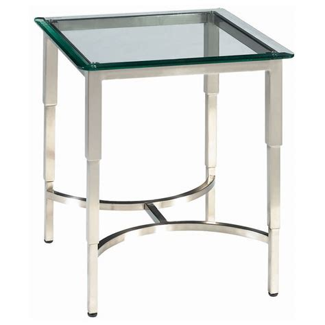 contemporary stainless steel table ls sheila contemporary end table stainless steel glass top