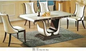 Beau table salle a manger en marbre avec best table salle for Meuble de salle a manger avec meuble en verre