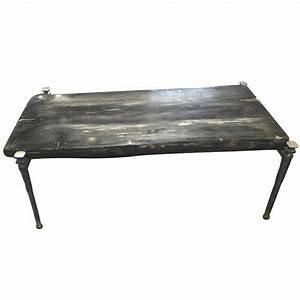 rectangular petrified wood coffee table black and grey for With black and grey coffee table