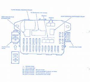 Honda Civic Lx 1989 Interior Fuse Box  Block Circuit Breaker Diagram