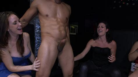 Horny Women Suck Big Dick At The Club And Get Off On It
